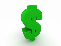 3D Symbool van de Dollar van de V.S. royalty-vrije illustratie