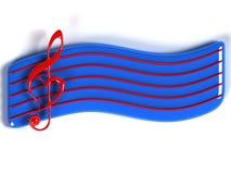 3D symbool van de Muziek Stock Foto's