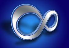 3D symbool van de Oneindigheid Stock Foto's