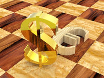 3d szachy Obraz Royalty Free