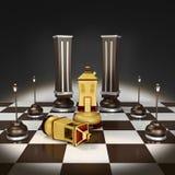 3d szachy stwarzać ognisko domowe ilustrację fotografia stock