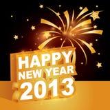 3D, Szczęśliwy nowy rok 2013 Zdjęcia Stock