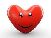 3d szczęśliwy serce Zdjęcia Stock