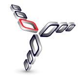 3d sześcianu logo Zdjęcie Royalty Free