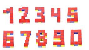3d sześciany dziewięć liczb Zdjęcia Stock