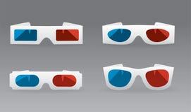 3D szkła Zdjęcie Stock