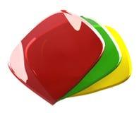 3d szkło logo Fotografia Royalty Free