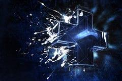 3D Szklisty Plus ilustracja wektor