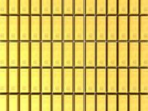 3d tło zakazuje złoto Obraz Royalty Free