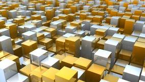 3d tło abstrakcjonistyczni bloki Zdjęcia Stock