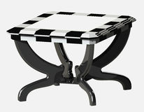 3D table. 3D Model table for chess Stock Photo