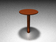 3d Table Royalty Free Stock Photo