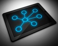 3d tablet pc, network concept. 3d tablet pc and network concept Royalty Free Stock Photos