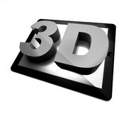 3d tablet pc, three-dimensional concept Stock Photo