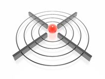 3d target. With green sphere Royalty Free Stock Photos