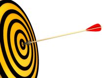 3d target and arrows Stock Photography