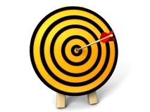 3d target and arrows. Isolated on white background Royalty Free Stock Photo