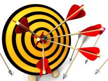 3d target and arrows. Isolated on white background Royalty Free Stock Photography
