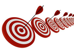 3d target and arrows - isolated on white Stock Photos