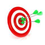 3d target with arrows over white background. Computer generated image Stock Images