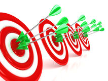 3d target with arrows over white background. Computer generated image Royalty Free Stock Image