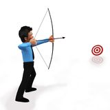 3D target shooting Royalty Free Stock Photos