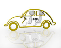 3d taxi Stock Images
