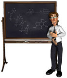 3d teacher teaching 3 cartoon. A teacher teaching, nice illustration for use in e-learning projects Royalty Free Stock Images