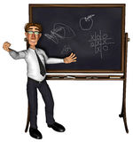 3d teacher teaching 3 cartoon 2. A teacher teaching, nice illustration for use in e-learning projects or business Royalty Free Stock Photo