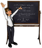 3d teacher teaching 3 cartoon 3. A teacher teaching, nice illustration for use in e-learning projects or business Royalty Free Stock Photo