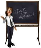 3d teacher teaching 5 cartoon. Back to school Stock Images