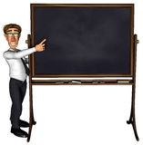 3d teacher teaching 5 cartoon blank Stock Photos