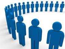 3d team circle blue. Community social teamwork Stock Photography