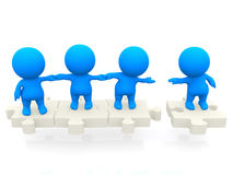 3D team standing together Royalty Free Stock Photography