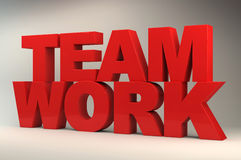 3D teamwork symbol Royalty Free Stock Photos