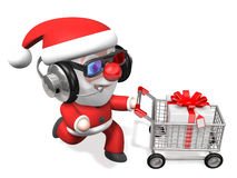 3d techno shopping of santa Stock Image