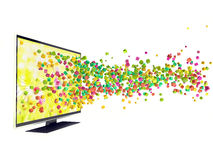 3D technology in TV. Isolated white Stock Image