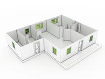 3d tekening van een gebouw â3 Stock Foto