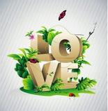 3d tekst van de liefde Stock Foto