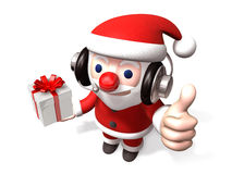 3d telemarketer santa claus Stock Photography