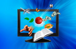 3D television Stock Photography