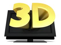 3D television Royalty Free Stock Photo