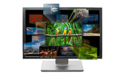 3d television. Tv set concept Royalty Free Stock Images