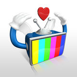 3d television man loving Royalty Free Stock Image