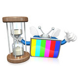 3d television man showing Royalty Free Stock Image