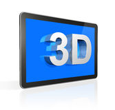 3D television screen with 3D text Royalty Free Stock Image