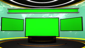 3d television stage Royalty Free Stock Photography