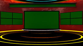 3d television stage Royalty Free Stock Photos