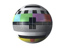 3D television test pattern. 3D, spherical television test pattern Stock Photo