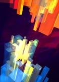 3d temperature crystals background. 3d temperature colour crystals background Royalty Free Stock Photos